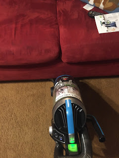The vacuum head is slim enough to fit under the couch!