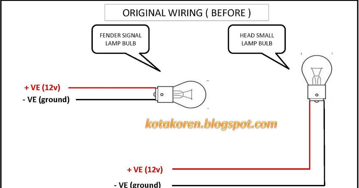Simple 12v Horn Wiring Diagram Diy Side Fender Lamp Wira Kotak Oren
