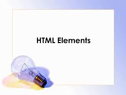 types of element in HTML