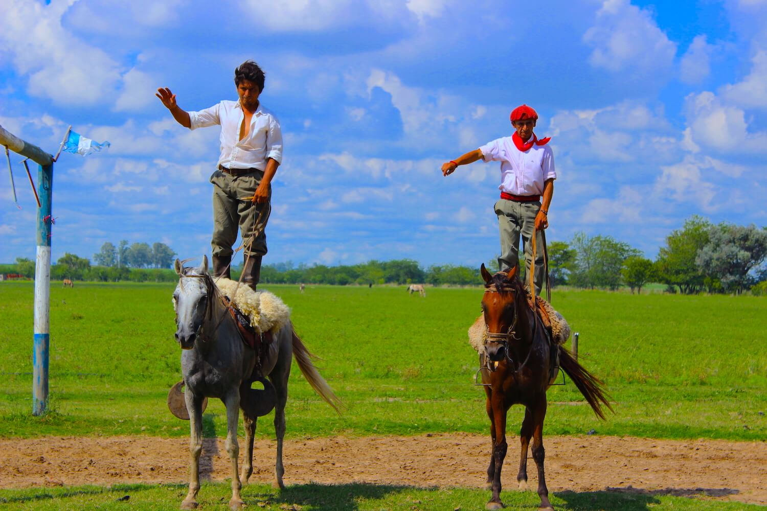 two gauchos on horses
