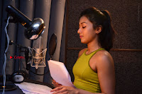 Actress Catherine Tresa Pos during Self Dubbing for Gautham Nanda Movie  0024.JPG