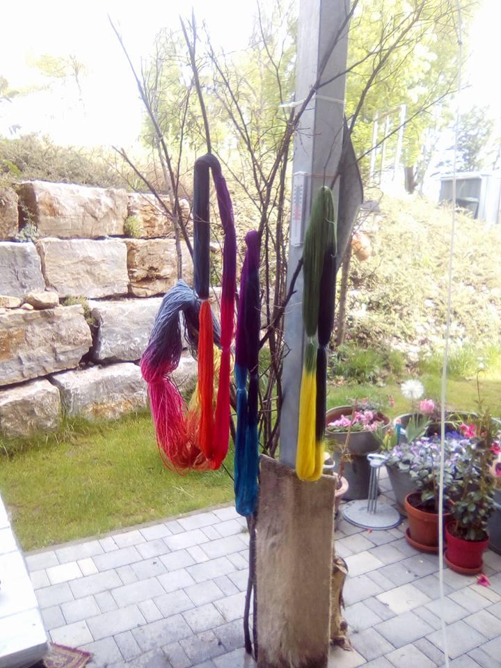 clarice39 giftgruen.handcrafted: Färben im Kochtopf ganz