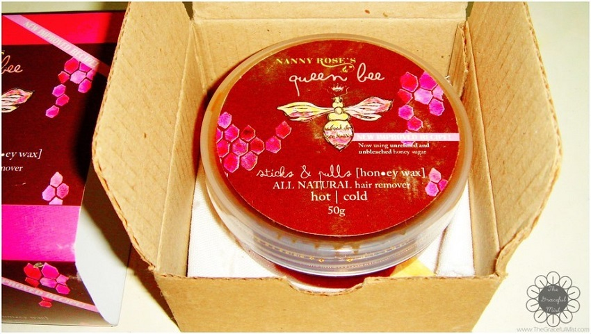 Nanny Rose`s Queen Bee - All Natural Hair Remover (Hot | Cold) Side View (www.TheGracefulMist.com) - Beauty, Fashion, Health, Lifestyle and Travel Blog/Website - Philippines - Filipina Teenager - Filipino - Blogger