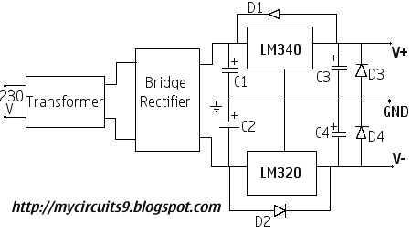 Dual Voltage Power Supply Mycircuits9