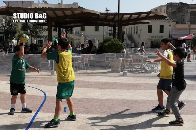 Τουρνουά street handball στην πλατεία Αγίου Πέτρου στο Ναύπλιο