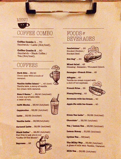 menu that's life coffee kebayoran