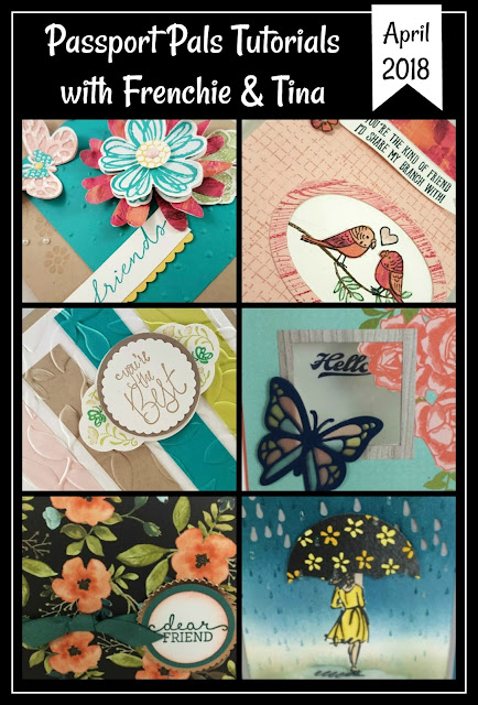 Frenchie Customer appreciation April 2018, April shower bring May flower, Stampin'Up!,