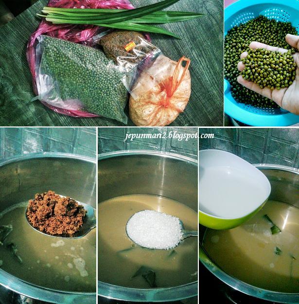 resepi bubur kacang durian