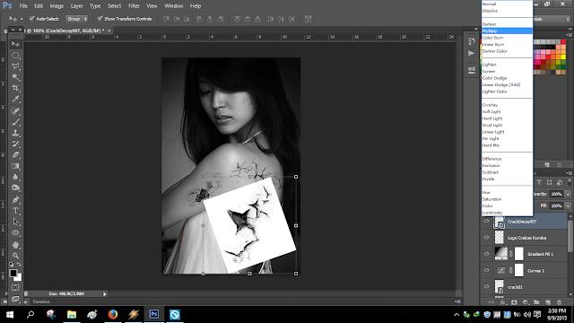 Membuat Effect Retak di Photoshop Dengan Mudah
