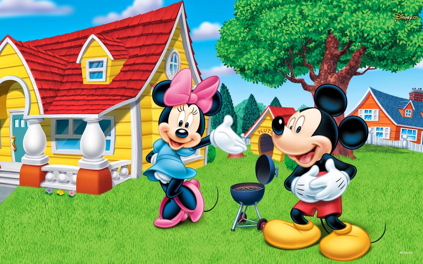 Disney Character Wallpapers -  Mickey and Minnie Mouse