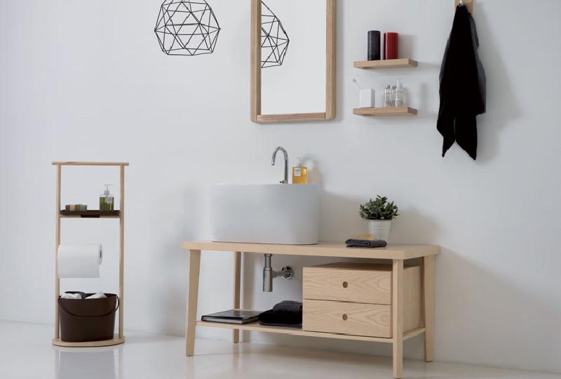 lavabo TINO con mobile legno massello