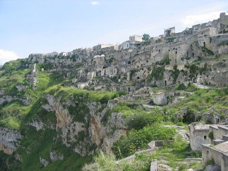 city of Sassi Di Matera is location of Hollywood films like The King David