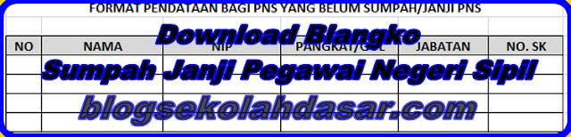 Blangko Sumpah/Janji Pegawai Negeri Sipil