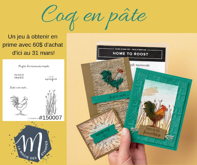 Prime Sale-a-bration Coq en pâte Stampin' Up! 2019