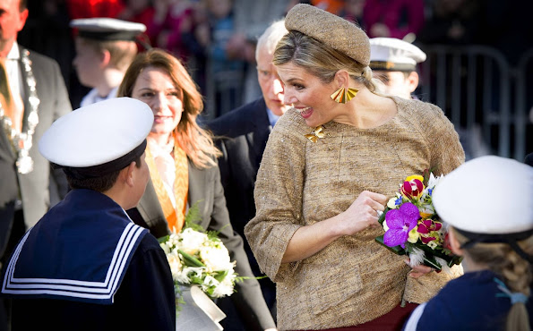 Queen Maxima of The Netherlands attends the award ceremony of the Geuzen Medal at the Big Church (Grote Kerk) in Vlaardingen