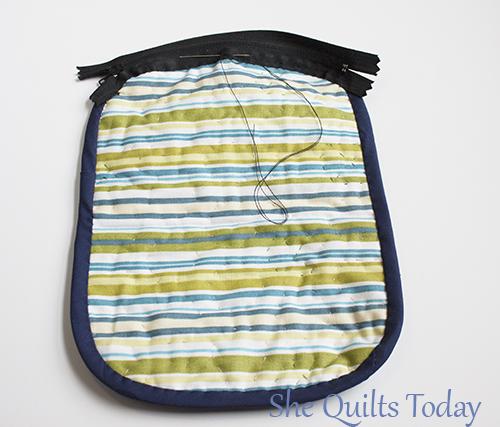 como hacer una bolsita acolchada