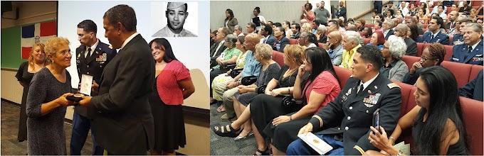 Espaillat resalta lucha por derechos civiles de piloto mocano al entregar Medalla de Oro a familiares