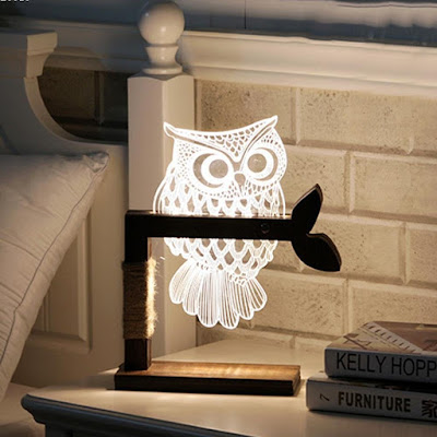 3D Owl Light Lamp