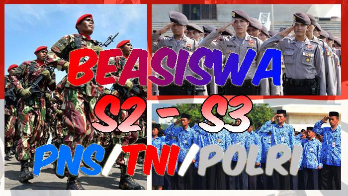 Beasiswa S2 dan S3 PNS, TNI dan Polri