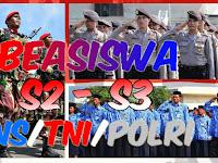 Program Beasiswa S2 dan S3 Bagi PNS, TNI dan POLRI Tahun 2019/2020