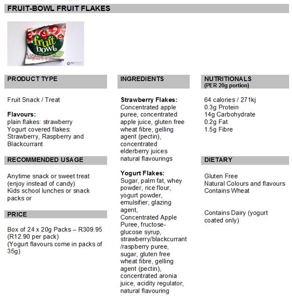 TASTE TEST: FRUIT BOWL FRUIT FLAKES