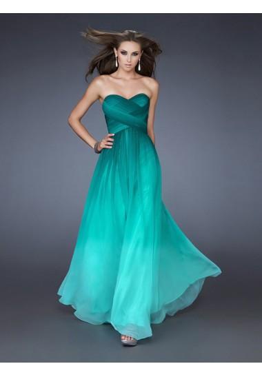 A-line Sweetheart Ruffles Prom Dresses