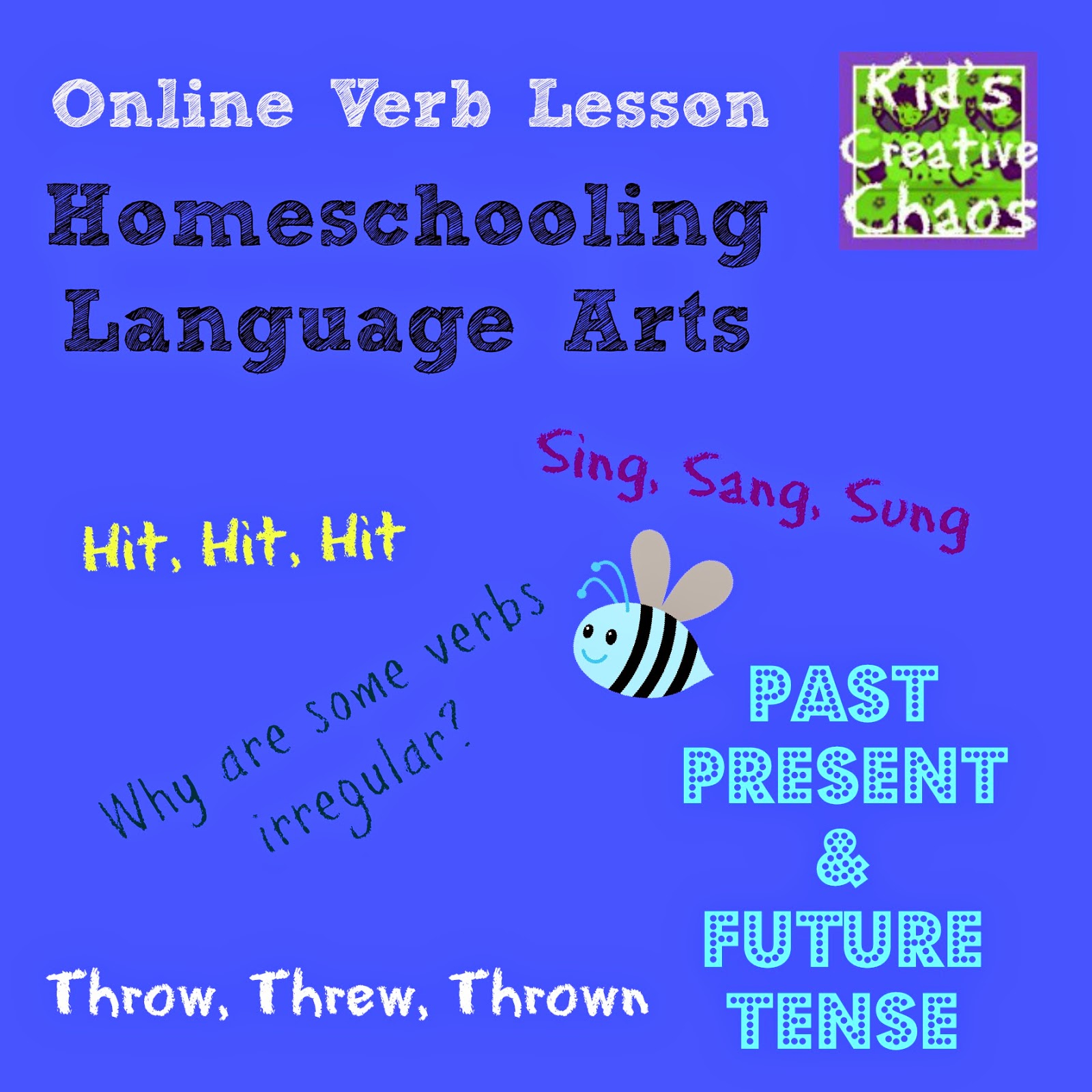 English Verb Conjugation Practice Lesson for Homeschool