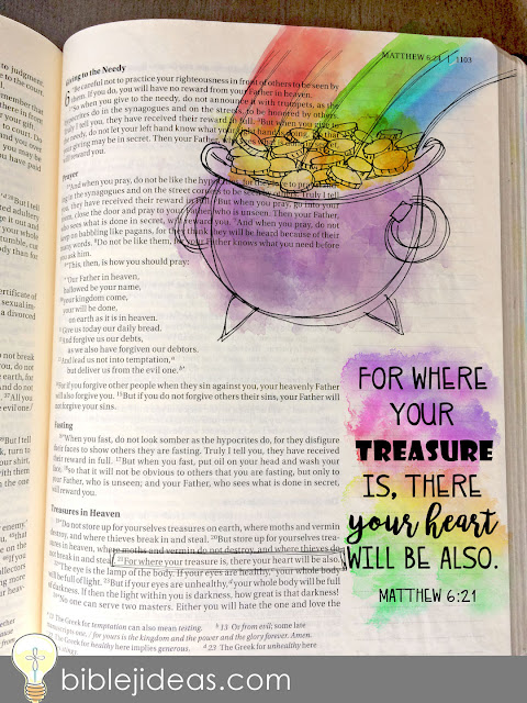 St. Patrick's Day Bible Journaling Traceables