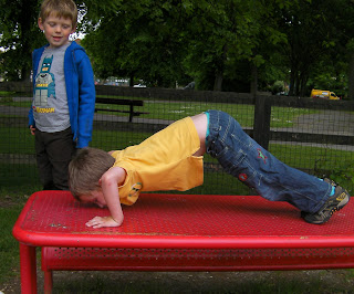 Year R kids playing in park