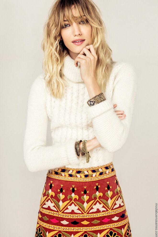 Sweaters tejidos invierno 2017 Rapsodia. Moda 2017.