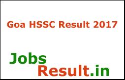 Goa HSSC Result 2017