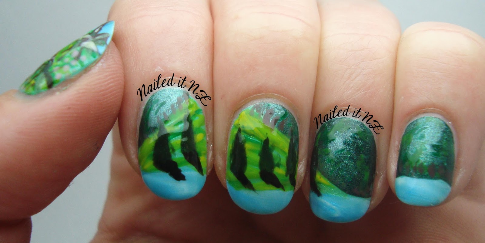 Nailed it NZ guest post - landscape nail art! - The Little Canvas