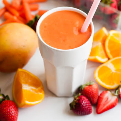 refreshing carrot orange summer smoothie recipe