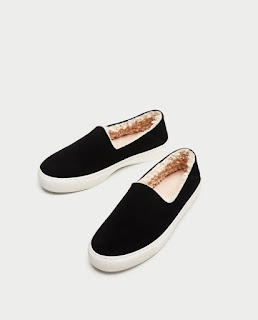 zara black and white plimsolls