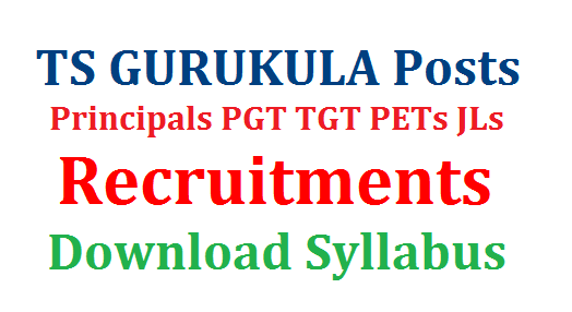 TS GURUKULA Posts Recruitment PGT TGT Principals PET JL Syllabus Download | Telangana State Public Service Commission Recruitment Residential Schools Principals PGT TGT PETs JLs | Download Syllabus for Telangana GURUKULA Posts Post Graduate Teachers Trained Graduate Physical Education Teachers Junior Lecturers ts-gurukula-posts-recruitment-pgt-tgt-principals-pet-jl-syllabus-scheme-of-exmination-download