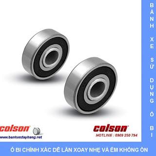 Bánh xe cao su lắp cọc vít M12 x 25mm Colson 5 inch | STO-5854-448 sử dụng ổ bi bạc đạn
