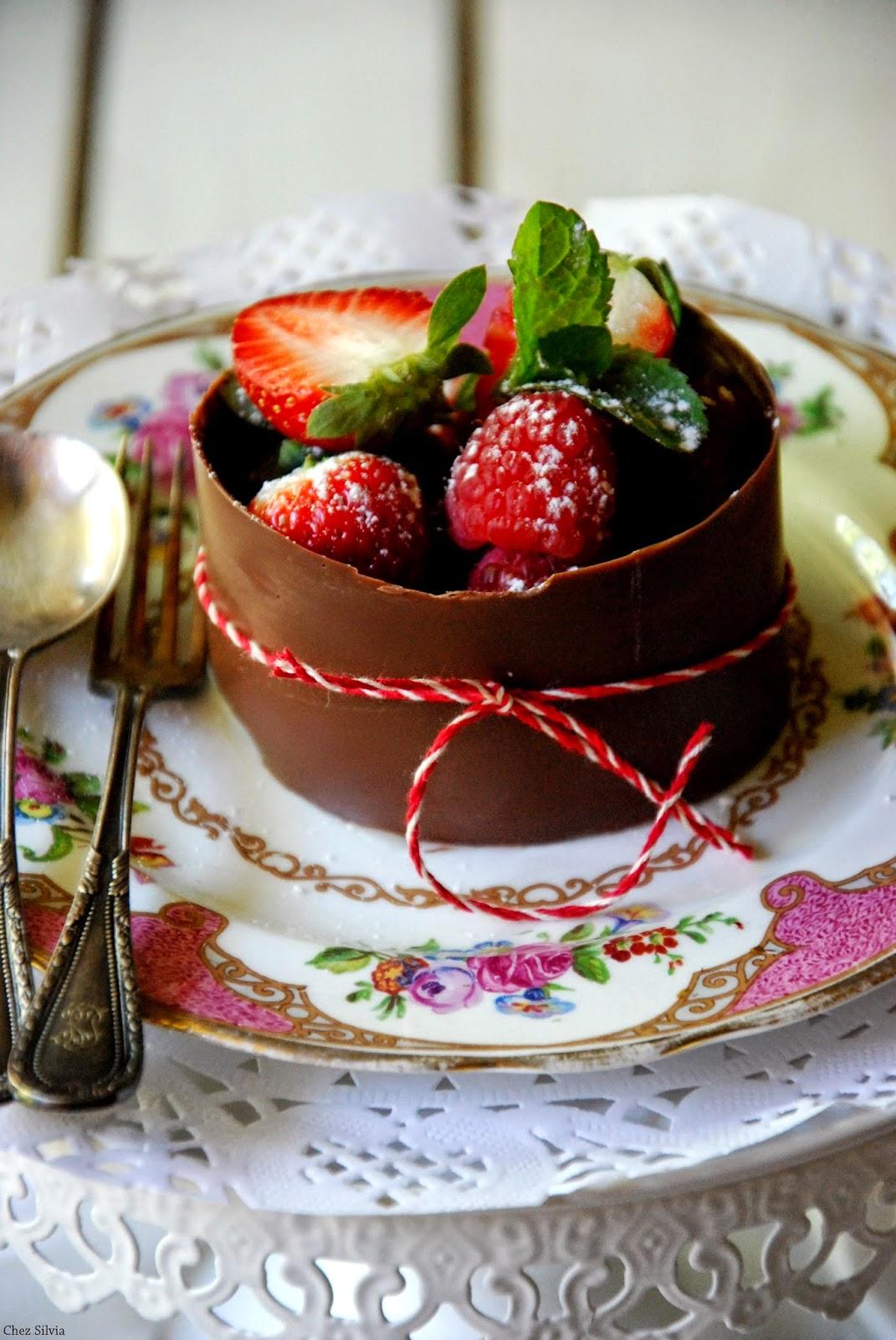 Chez Silvia Postre De Chocolate Con Crema De Limon Y Chocolate - Postres-elegantes
