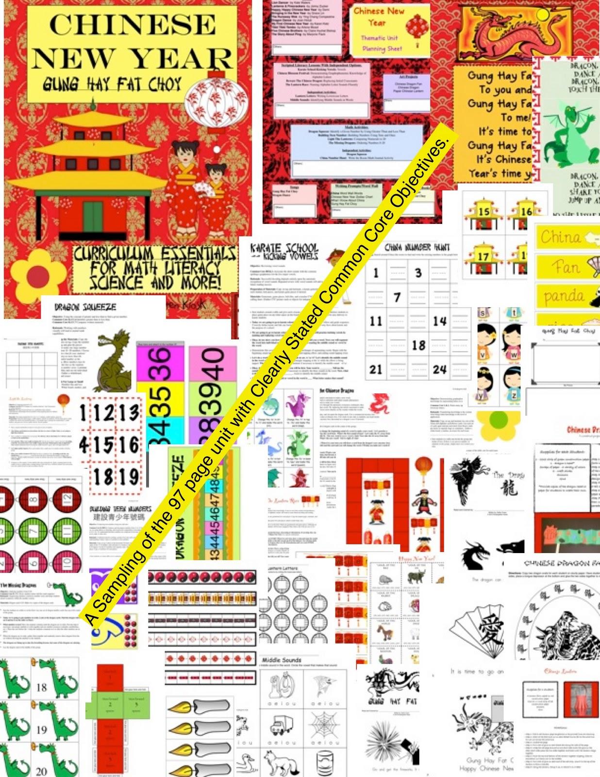 Kindergarten Kiosk Chinese New Year Gung Hay Fat Choy