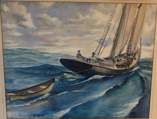 Pennsylvania Painters Francis Quirk  maritime watercolor boat sailboat