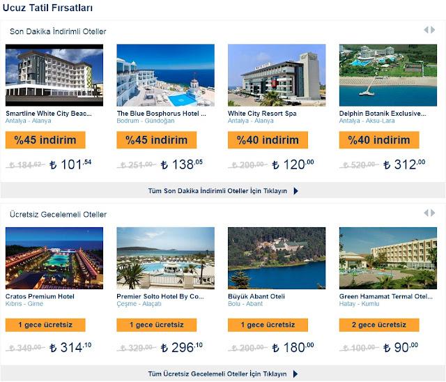ucuz tatil fırsatları