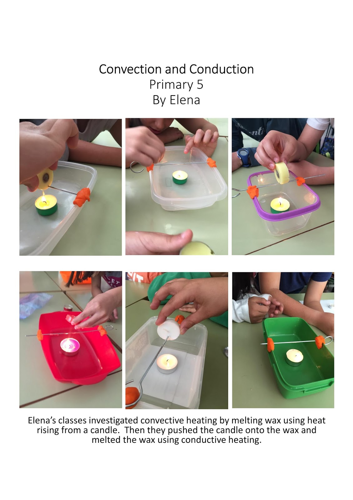 Intercambio De Ciencia Alcobendas Primary 5 Convection Vs