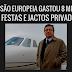 Comissão Europeia: 8 milhões em jactos privados e festas