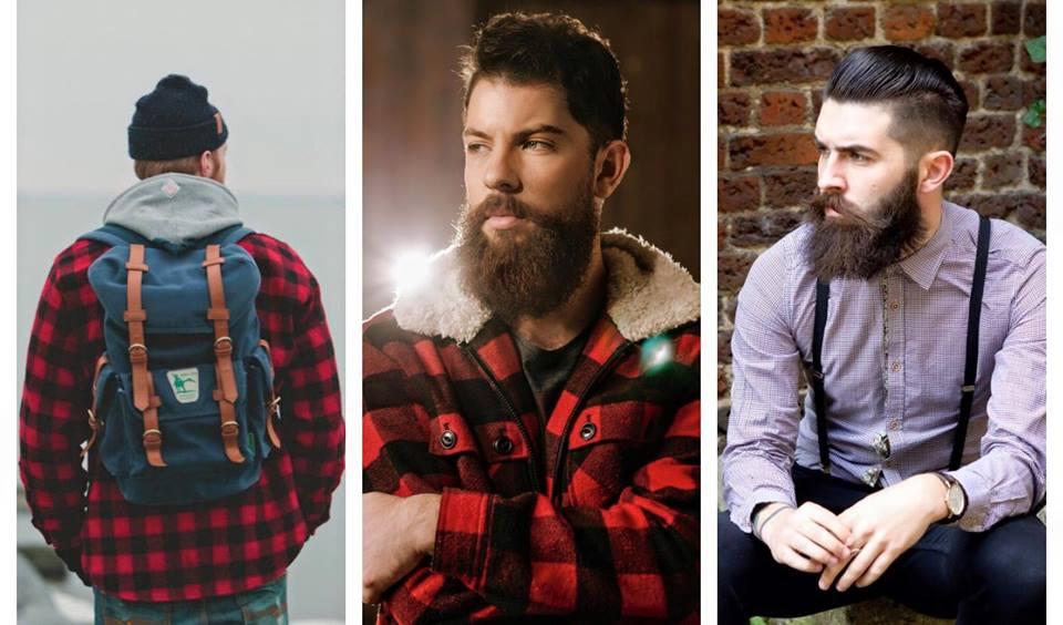 barba lenhador camisa xadrez