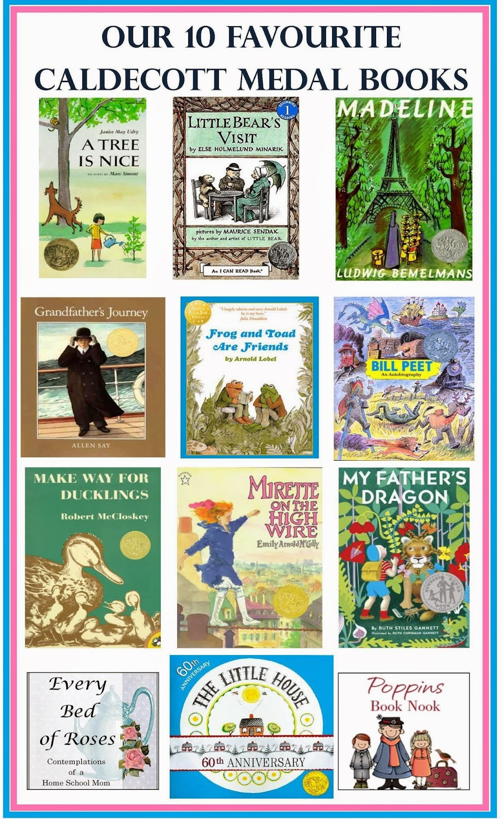 Our Favourite Tree Guide Trees Of The Carolinian Forest: Every Bed Of Roses: Our 10 Favourite Caldecott Medal Books