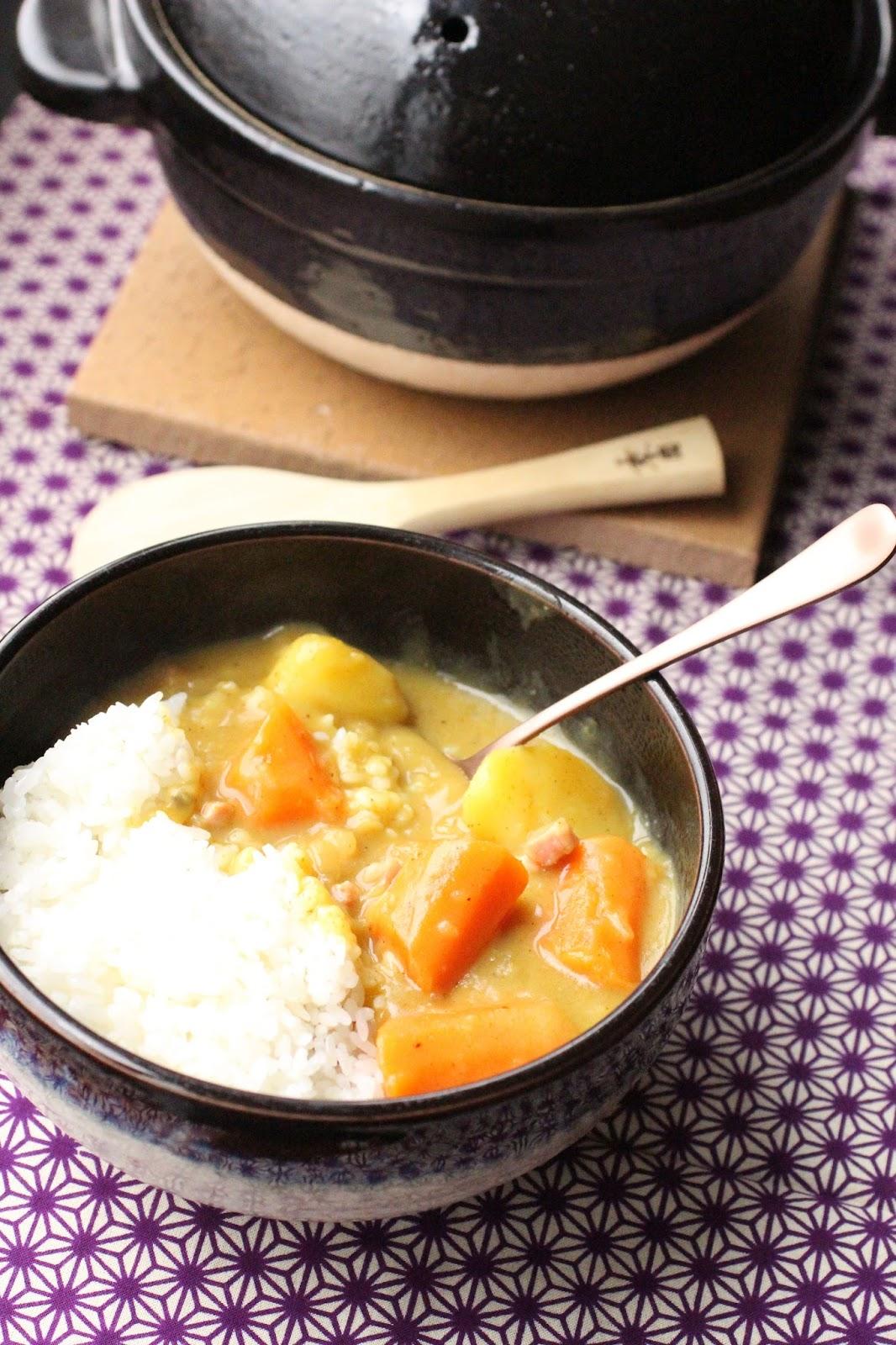 Un peu gay dans les coings curry et riz comme au japon - Bonne appetit en japonais ...