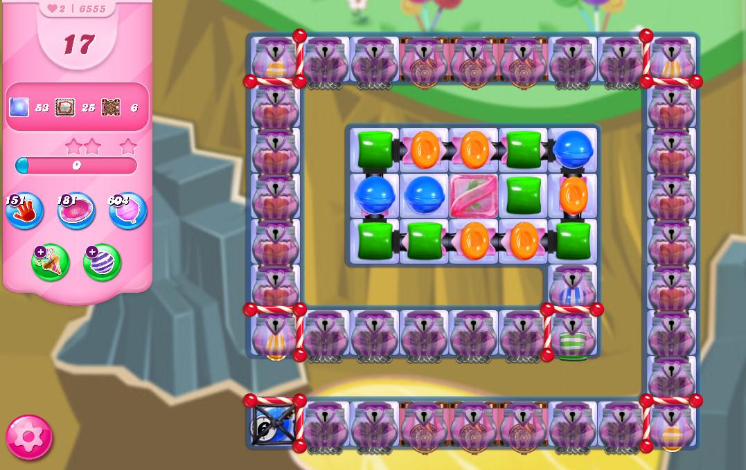 Candy Crush Saga level 6555