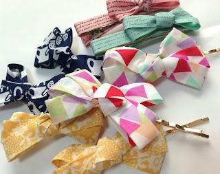 How to make LIBERTY ribbon hair clips