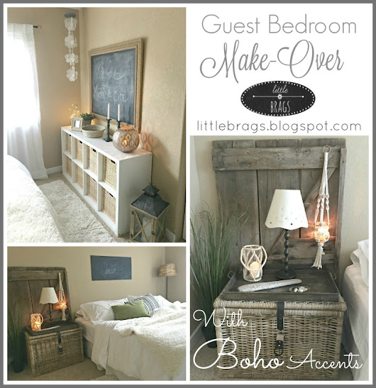 A Guest Bedroom Make-Over and what a difference a rug can make