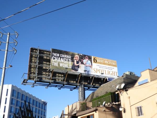 Spotlight Oscar nominee billboard