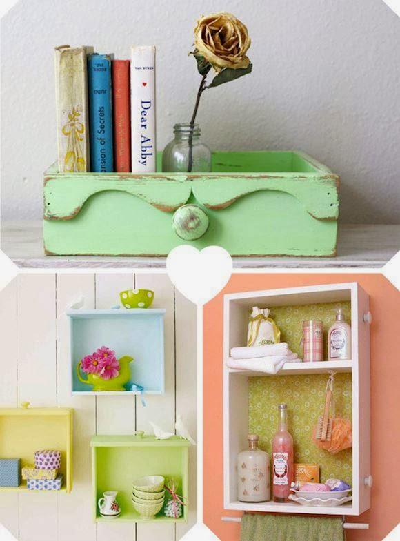 Vecchi cassetti riciclati la casa delle idee for Regalo mobili vecchi
